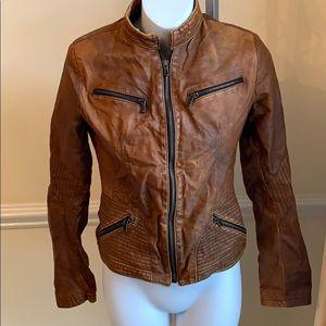 Vera Pelle distressed Moto jacket